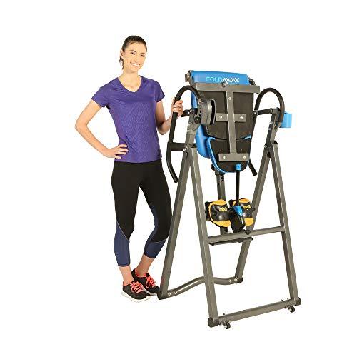 Exerpeutic 575SL Foldaway Mobile Inversion Table with Airsoft NO Pinch Ankle Holders and SURELOCK Ratchet System