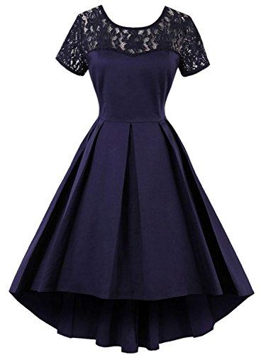 blue 1950s style dress - 6