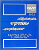 1992 Syclone, Typhoon and Sonoma GT Service Manual Supplement X-9276
