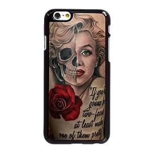 Marilyn Monroe Medio cráneo E0Q24W3MN funda iPhone 6 6S 4,7 pufunda LGadas caso funda 4672NA negro
