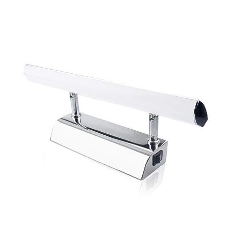 Aplique Espejo Bano.Luxvista 5w 30cm Aplique Espejo Bano Led Impermeable Luz Espejo Bano Angulo Ajustable Lampara De Espejo Con Interruptor Para Apliques Bano