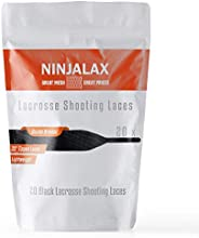 Ninjalx Lacrosse Shooting Laces - 33 inch - Tipped - 20 Pack