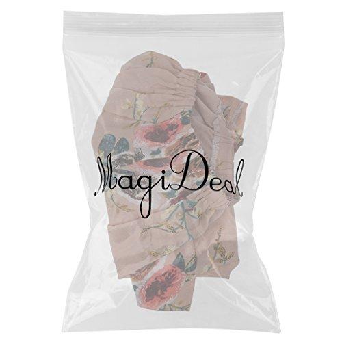 MagiDeal Blusa Ocasional Floja de Camisa Larga de Manga de Verano de Mujeres Remata Blanco/Rosado 4 Tallas rosado