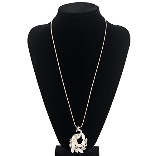 Aworth Women Sweater Necklace Long Necklaces & Pendants Peacock Necklace For Women Jewelry NL619 as picture (Draperies Discount Online)