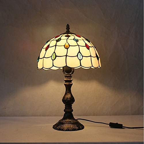 Retro Table Lamp European Table Lamp Bedroom Living Room Lighting Glass Simple Study Eye Protection Bedroom Living Room Lamp 12 Inch Lighting Fixture