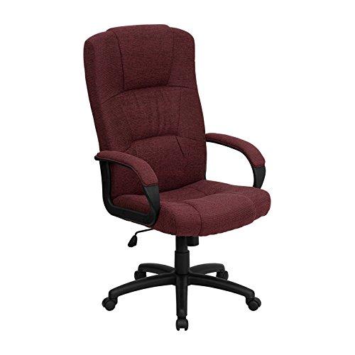 High Back Burgundy Fabric Executive Office Chair - Executive Chair Burgundy Fabric