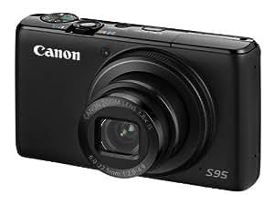 "Canon Powershot S95 - Cámara compacta de 10 MP (pantalla de 3"", zoom óptico 3x), negro [importado]"
