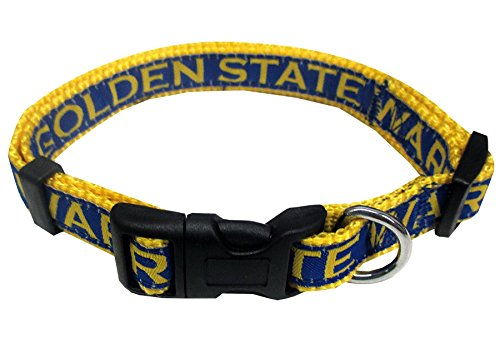 Pets First Golden State Warriors Dog Collar, Medium