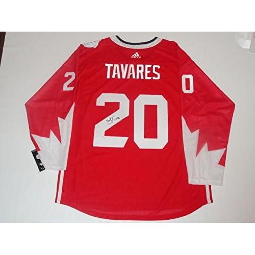 buy popular c470b 15cbb low-cost Signed John Tavares Jersey - 2016 Team Canada World ...
