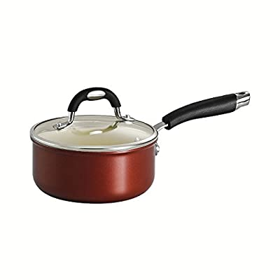 Tramontina 80110/048DS Style Ceramica 01 Covered Sauce Pan, 1.5-Quart, Metallic Copper by Tramontina