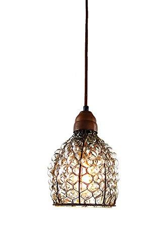 Chicken Wire Glass Pendant Light