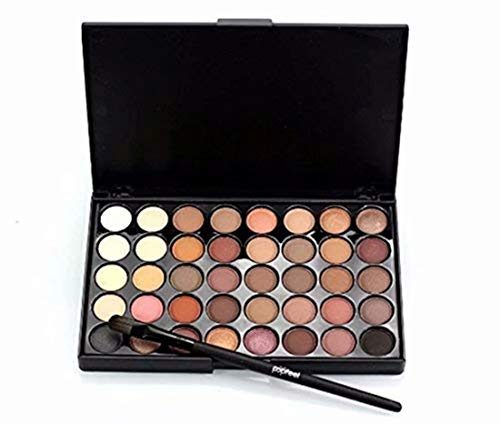 LOVEACH 40 Color Eyeshadow Palette Kits, Matte Eye Shadow Powder Palette in Shimmer Glitter Eyeshadow Brush Set,Face Lips Art Makeup Tools for Party (Palette Eyeshadow Color 40)