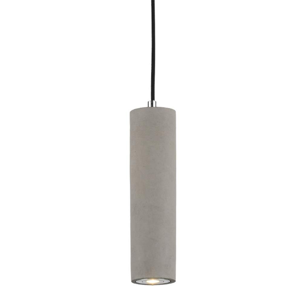 Industrie LED-Pendelleuchte Zement Designer-Lampe Küche-Leuchte LED-Hängeleuchte aus Beton Modernes Design LED-Strahler LED-Spot LED-Deckenstrahler Zylindrisch Ø 7 cm H 27 cm kaltweiss 6000-6500K