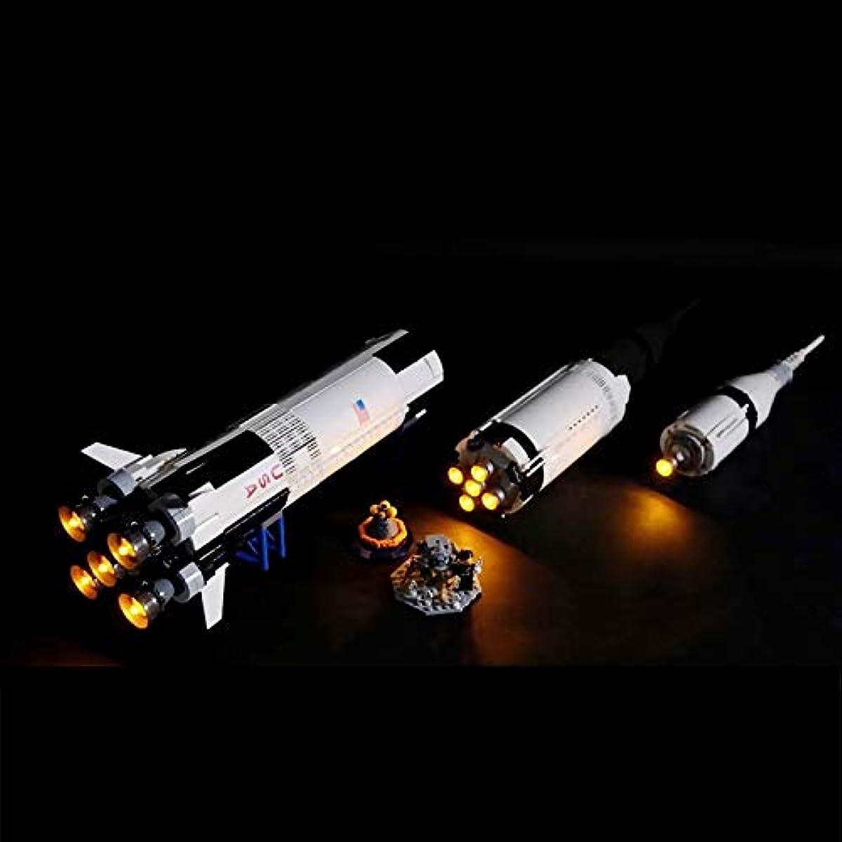[해외] LEGO 레고 아이디어 21309 호환 NASA 아폴로 계획 새턴V LED 라이트 키트