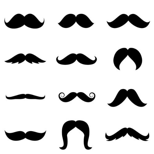 [Funny Face Disguises Mustaches - Assorted Pack of 6] (Gumball Machine Costume For Kids)