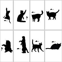 8 Pieces / Set Cute Black Cat Switch Wall Decorating Sticker HMKG-01