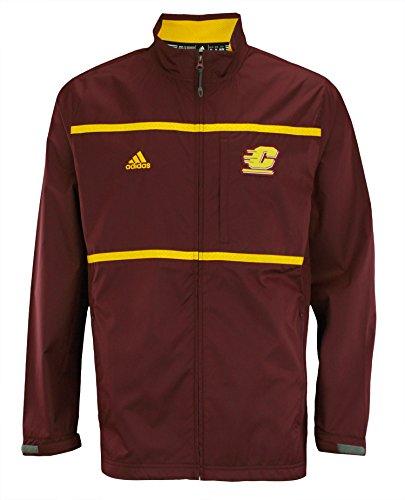 Michigan Mens Track Jacket - adidas NCAA Men's Central Michigan Chippewas Full Zip Jacket, Maroon XX-Large