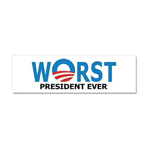 CafePress - Worst President Ever Car Magnet 10 x 3 - Car Magnet 10 x 3, Magnetic Bumper Sticker