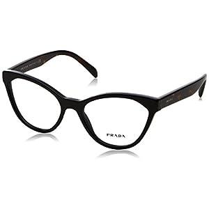 Prada PR02TV Eyeglass Frames 1AB1O1-52 - Black PR02TV-1AB1O1-52