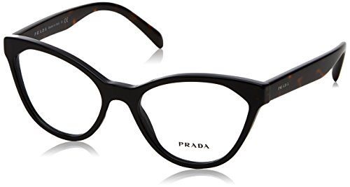 Prada PR02TV Eyeglass Frames 1AB1O1-52 - Black PR02TV-1AB1O1-52 (Cat Prada Frames Glasses Eye)