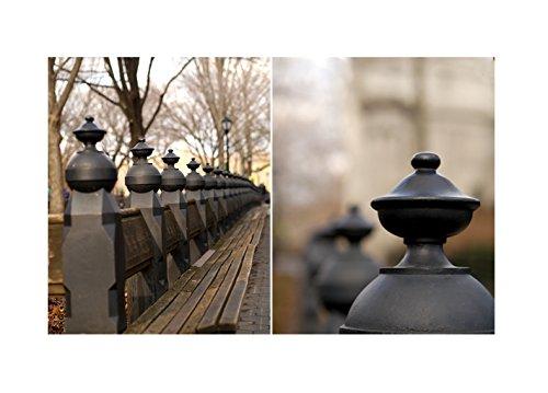 Amazon.com: New York Central Park Bench Wall Art Set of 2 Prints ...