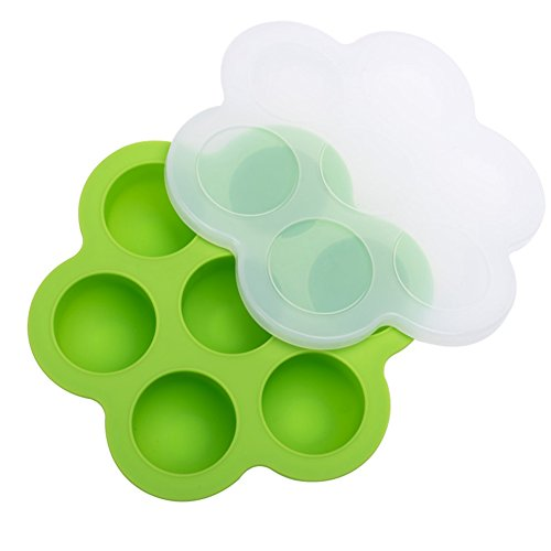 Sealed Crisper (1 Pcs 7 Holes Baby Girl/Boy Silicone Food Supplement Feeding Box Cake Molds Ice Tray with Cover Ice Cube Tray Storage Sealed Crisper Box)