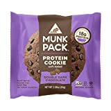 Munk Pack – Double Dark Chocolate – 2.96 oz Protein Cookie, 6 Pack | Vegan, Gluten Free, 18g of Protein per Cookie Review