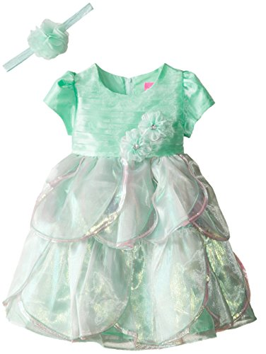 Disney Little Girls' Princess Ariel Dress with Matching Tiara, Green, 5 (Ariel Disney Child Tiara)