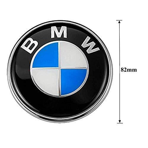 (Keep Real BMW Emblem 82mm Hood/Trunk Logo Replacement 2pin for ALL Models BMW LOGO DECAL E30 E36 E46 E34 E39 E60 E65 E38 X3 X5 X6 3 4 5 6 7 8 Series)