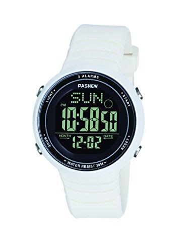 Digital Sleek Watch - Pasnew-445G Sports Digital Watches Teenagers Girls Womens Watches Students Watch with Alarm Waterproof Night Light Multi-Functional Fashion Wrist Watches