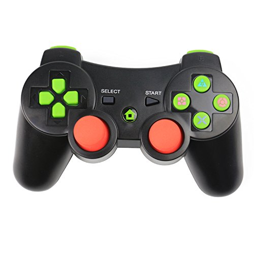 (Wireless Game Controller Bluetooth Controller with Six Axis and Vibration for Sony PS3 (Black))
