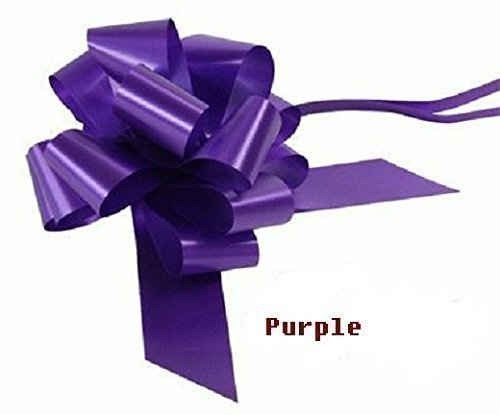 Wedding Car Kit PURPLE 3x Large 50mm Poly Pull Bows & 6 Metres 2 Poly Ribbon by Apac