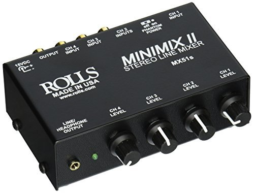 Rolls MX51S Mini Mix 2 Four-Channel Stereo Line Mixer ()