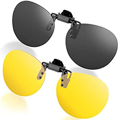 637030638af Amazon.com  Splaks Round Clip-on Sunglasses