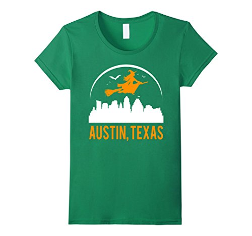 Womens Witch Of Texas's Capital Austin Cool Funny T-shirt Small Kelly (Halloween Costumes Austin Texas)