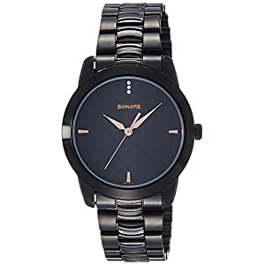 Sonata Analog Black Dial Men's Watch NM7924NM01 / NL7924NL01