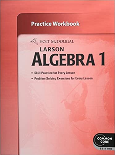 Book Holt McDougal Larson Algebra 1: Practice Workbook
