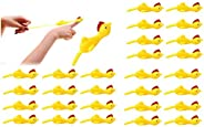 30 PCS Rubber Chicken Slingshot, Turkey Finger Slingshot, Sticky Chicken Flying, Novelty and Interesting Finge