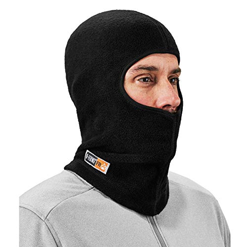 FR Rated Balaclava, Winter Face Mask, Thermal Fire Resistant Modacrylic Fleece, Ergodyne N-Ferno 6828