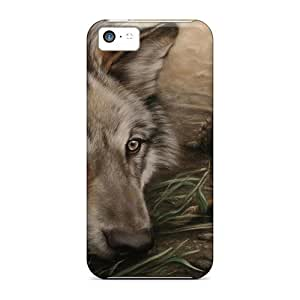 High Quality Wolf Drawing Case For Iphone 5c