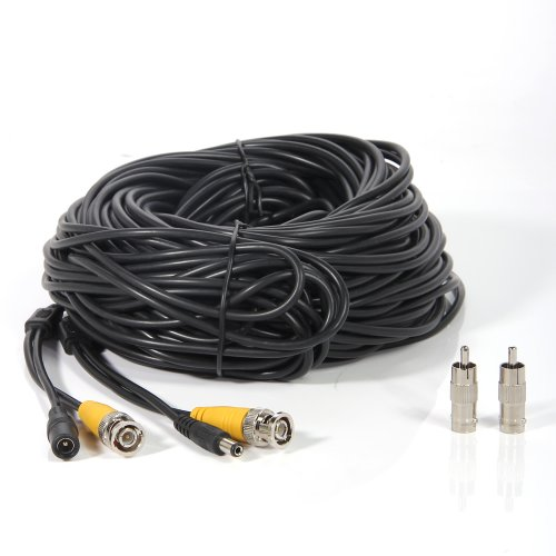 Masione 4 Pack 100ft Bnc Video Power Cable Security Camera
