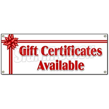 amazon com gift certificates available banner sign signs new