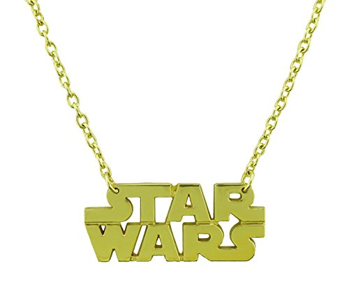 Star Wars Necklace Last Jedi Movie Halloween Costume Metal Fashion Gothic Tattoo (Star Wars Text Gold ()