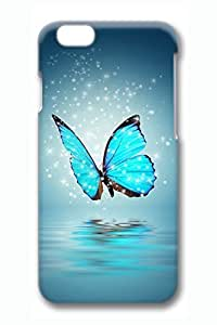 Blue Butterfly Slim Hard For SamSung Galaxy S6 Case Cover Case PC 3D Cases