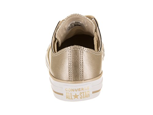 Converse Casual Gold Star Eyelets Ox Metallic Women All Chuck Shoe Taylor White Big Gold 4x4Urq