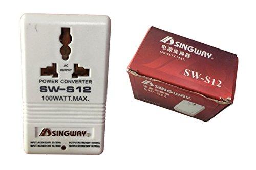 Singway@ Voltage Power Transformer Converter Adapter from 110V to 220V or from 220V to 110V International Standard 2 Prong (SW-S12-100W) (Uk Transformer Voltage)