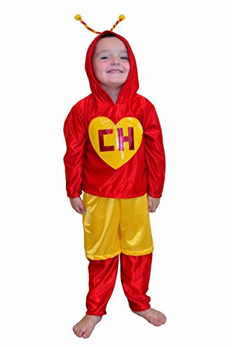 Chapulin Colorado Chavo del ocho Party Costume Kids Child T2 T4 T6 T8 T10 T12 (Chapulin Colorado Costumes)