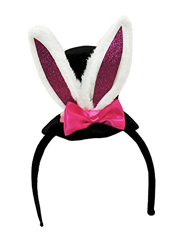 Hat White Adult Rabbit (Mini Bunny Ear Top Hat)
