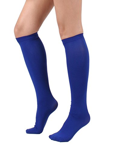 Women's Semi Opaque Knee High Trouser Sock 3pair / 6pair (One Size : XS to M, -