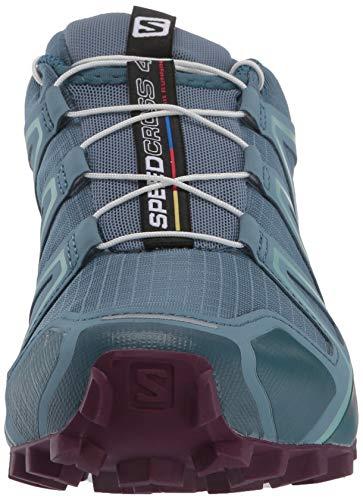 Salomon Women's Speedcross 4 W Trail Running Shoe, Bluestone/Mallard Blue/Dark Purple, 5.5 Standard US Width US by Salomon (Image #4)